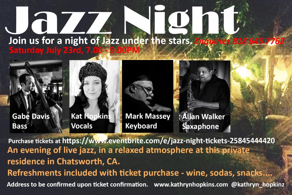 jazz under the stars postcard 2